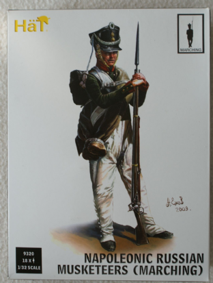 HaT 1/32 HAT9320 Russian Musketeers Marching (Napoleonic)